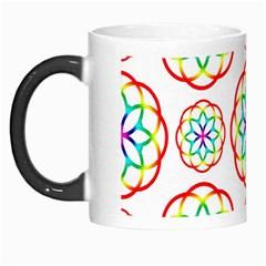 Geometric Circles Seamless Rainbow Colors Geometric Circles Seamless Pattern On White Background Morph Mugs