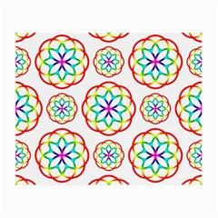 Geometric Circles Seamless Rainbow Colors Geometric Circles Seamless Pattern On White Background Small Glasses Cloth