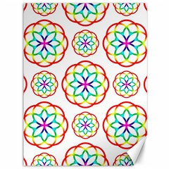 Geometric Circles Seamless Rainbow Colors Geometric Circles Seamless Pattern On White Background Canvas 36  x 48