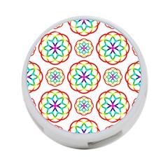 Geometric Circles Seamless Rainbow Colors Geometric Circles Seamless Pattern On White Background 4 Port Usb Hub (one Side) by Simbadda