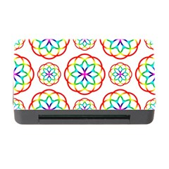 Geometric Circles Seamless Rainbow Colors Geometric Circles Seamless Pattern On White Background Memory Card Reader with CF