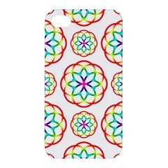Geometric Circles Seamless Rainbow Colors Geometric Circles Seamless Pattern On White Background Apple iPhone 4/4S Premium Hardshell Case