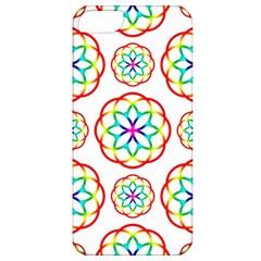 Geometric Circles Seamless Rainbow Colors Geometric Circles Seamless Pattern On White Background Apple iPhone 5 Classic Hardshell Case