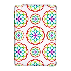 Geometric Circles Seamless Rainbow Colors Geometric Circles Seamless Pattern On White Background Apple Ipad Mini Hardshell Case (compatible With Smart Cover) by Simbadda