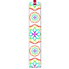 Geometric Circles Seamless Rainbow Colors Geometric Circles Seamless Pattern On White Background Large Book Marks