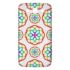 Geometric Circles Seamless Rainbow Colors Geometric Circles Seamless Pattern On White Background Samsung Galaxy Mega 5 8 I9152 Hardshell Case  by Simbadda