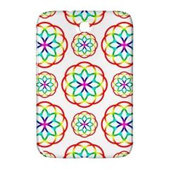 Geometric Circles Seamless Rainbow Colors Geometric Circles Seamless Pattern On White Background Samsung Galaxy Note 8 0 N5100 Hardshell Case  by Simbadda