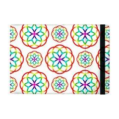 Geometric Circles Seamless Rainbow Colors Geometric Circles Seamless Pattern On White Background iPad Mini 2 Flip Cases