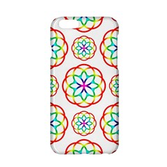 Geometric Circles Seamless Rainbow Colors Geometric Circles Seamless Pattern On White Background Apple Iphone 6/6s Hardshell Case by Simbadda