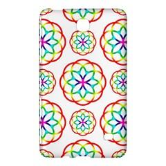 Geometric Circles Seamless Rainbow Colors Geometric Circles Seamless Pattern On White Background Samsung Galaxy Tab 4 (7 ) Hardshell Case
