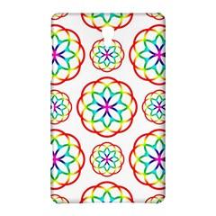 Geometric Circles Seamless Rainbow Colors Geometric Circles Seamless Pattern On White Background Samsung Galaxy Tab S (8.4 ) Hardshell Case
