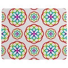Geometric Circles Seamless Rainbow Colors Geometric Circles Seamless Pattern On White Background Jigsaw Puzzle Photo Stand (Rectangular)