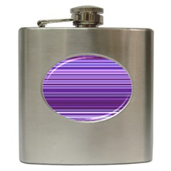 Stripe Colorful Background Hip Flask (6 Oz) by Simbadda