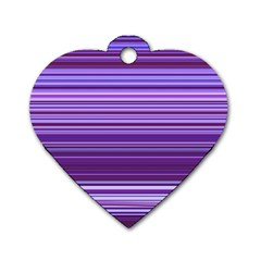 Stripe Colorful Background Dog Tag Heart (two Sides) by Simbadda