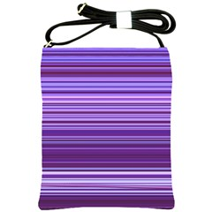 Stripe Colorful Background Shoulder Sling Bags by Simbadda