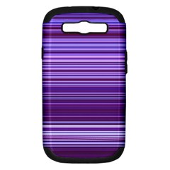 Stripe Colorful Background Samsung Galaxy S Iii Hardshell Case (pc+silicone) by Simbadda