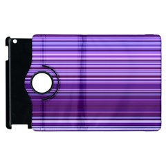 Stripe Colorful Background Apple Ipad 2 Flip 360 Case by Simbadda
