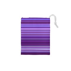 Stripe Colorful Background Drawstring Pouches (XS)  by Simbadda