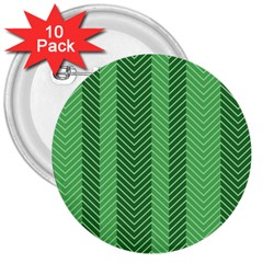 Green Herringbone Pattern Background Wallpaper 3  Buttons (10 Pack)  by Simbadda