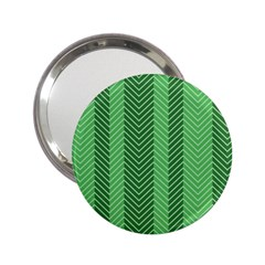 Green Herringbone Pattern Background Wallpaper 2 25  Handbag Mirrors by Simbadda
