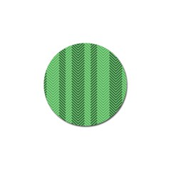 Green Herringbone Pattern Background Wallpaper Golf Ball Marker (4 Pack) by Simbadda