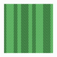 Green Herringbone Pattern Background Wallpaper Medium Glasses Cloth (2 Side) by Simbadda