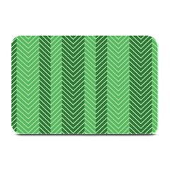 Green Herringbone Pattern Background Wallpaper Plate Mats by Simbadda