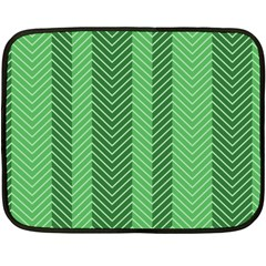 Green Herringbone Pattern Background Wallpaper Fleece Blanket (mini) by Simbadda