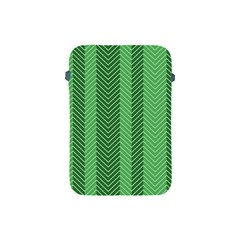Green Herringbone Pattern Background Wallpaper Apple Ipad Mini Protective Soft Cases by Simbadda