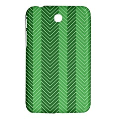 Green Herringbone Pattern Background Wallpaper Samsung Galaxy Tab 3 (7 ) P3200 Hardshell Case  by Simbadda