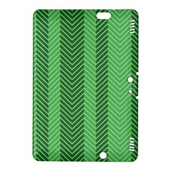 Green Herringbone Pattern Background Wallpaper Kindle Fire Hdx 8 9  Hardshell Case by Simbadda