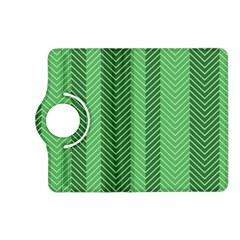 Green Herringbone Pattern Background Wallpaper Kindle Fire Hd (2013) Flip 360 Case by Simbadda