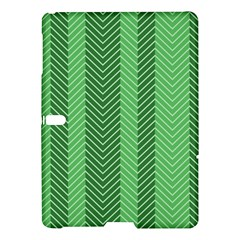 Green Herringbone Pattern Background Wallpaper Samsung Galaxy Tab S (10 5 ) Hardshell Case