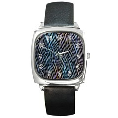 Abstract Background Wallpaper Square Metal Watch by Simbadda