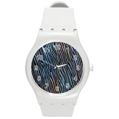 Abstract Background Wallpaper Round Plastic Sport Watch (m) by Simbadda