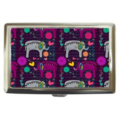 Colorful Elephants Love Background Cigarette Money Cases by Simbadda
