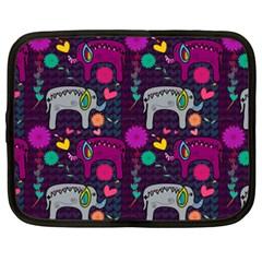 Colorful Elephants Love Background Netbook Case (xxl)  by Simbadda