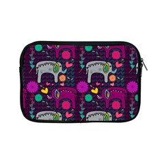 Colorful Elephants Love Background Apple Ipad Mini Zipper Cases by Simbadda