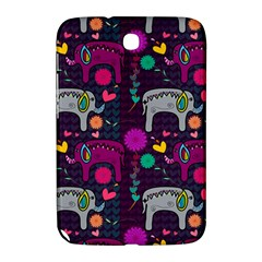 Colorful Elephants Love Background Samsung Galaxy Note 8 0 N5100 Hardshell Case  by Simbadda