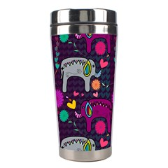 Colorful Elephants Love Background Stainless Steel Travel Tumblers by Simbadda
