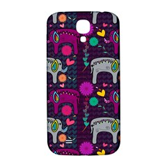 Colorful Elephants Love Background Samsung Galaxy S4 I9500/i9505  Hardshell Back Case by Simbadda
