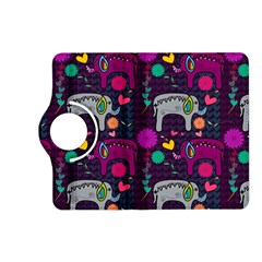Colorful Elephants Love Background Kindle Fire Hd (2013) Flip 360 Case by Simbadda