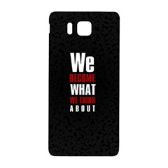 Poster Samsung Galaxy Alpha Hardshell Back Case by chirag505p