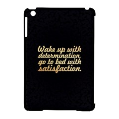 Posterwake Up With Determination      Inspirational Quotes Apple Ipad Mini Hardshell Case (compatible With Smart Cover) by chirag505p