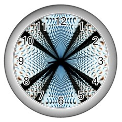 Dimension Metal Abstract Obtained Through Mirroring Wall Clocks (silver)