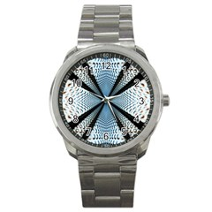 Dimension Metal Abstract Obtained Through Mirroring Sport Metal Watch by Simbadda