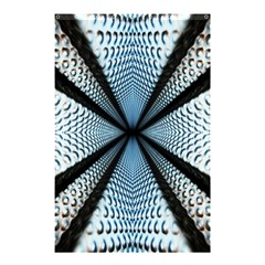 Dimension Metal Abstract Obtained Through Mirroring Shower Curtain 48  X 72  (small)  by Simbadda