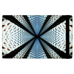 Dimension Metal Abstract Obtained Through Mirroring Apple Ipad 2 Flip Case by Simbadda