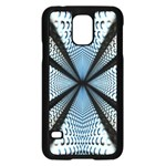Dimension Metal Abstract Obtained Through Mirroring Samsung Galaxy S5 Case (Black) Front