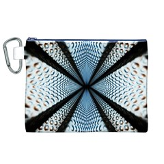 Dimension Metal Abstract Obtained Through Mirroring Canvas Cosmetic Bag (xl) by Simbadda